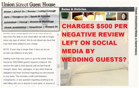 union street guest house union street guest house doesn t like bad reviews charges guests 500 for each