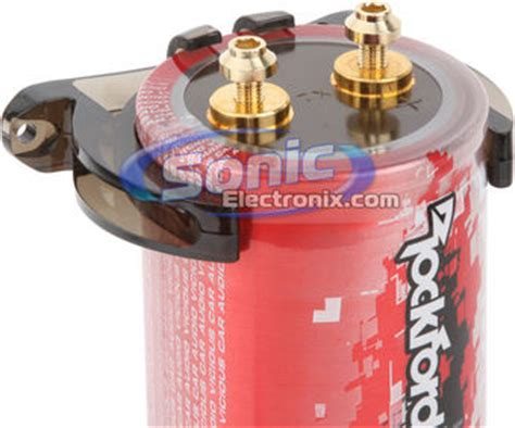 rockford fosgate 3 farad capacitor rockford fosgate 1 2 farad punch performance series car capacitor