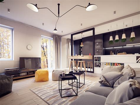 The Living Room Salon A 60s Inspired Apartment With A Creative Layout And Upbeat