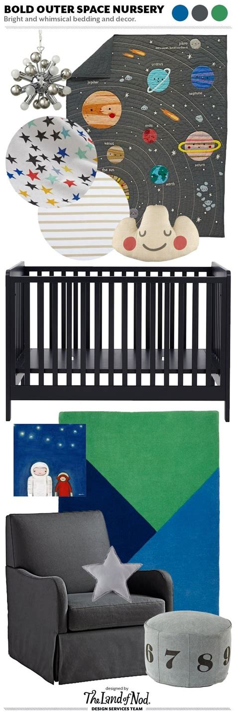 Solar System Crib Bedding Space Themed Crib Bedding Boys Space Theme Nursery The Land Of Nod Bedroom Ideas Outer Space