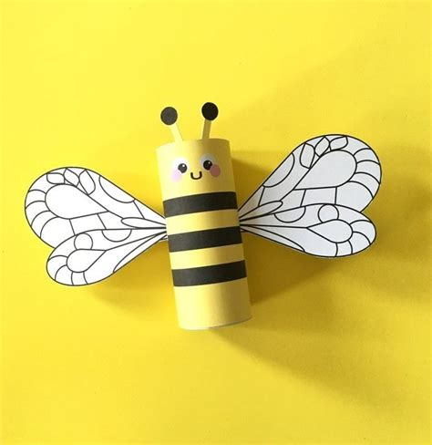 toilet paper roll bee craft for easy peasy and bumblebee toilet craft printable 183 how to make a