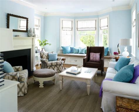 blue walls in living room interior design inspiration photos by sara tuttle interiors