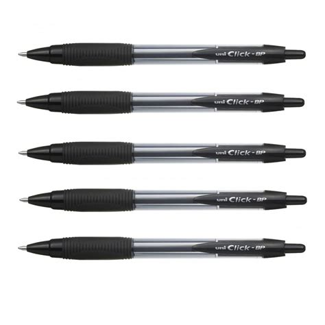 Bolpoin Pilot Bp 1 Click Pack click bp retractable ballpoint pens pack of 5 black ink uni from craftyarts co uk uk