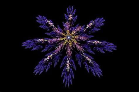 Home Design App Iphone digital fractal art abstract blue purple flower image