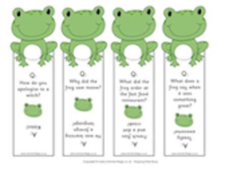 printable joke bookmarks free printable frog joke bookmarks scrapbooking paper