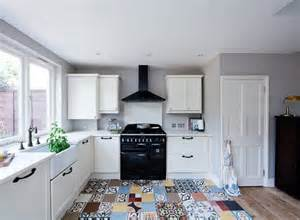 charming Victorian Style Kitchen Tiles #1: residential_renovation_victorian_house_London_kew_interior_designer_kitchen_encaustic_cement_tiles_patchwork_brick_splashback_kitchen_accessories_farrow_and_ball_elephants_breath_walls.jpg