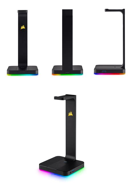 Diskon Corsair St100 Gaming Headset Stand corsair st100 rgb premium headset stand with 7 1 surround dac ca 9011167 ap pc gear