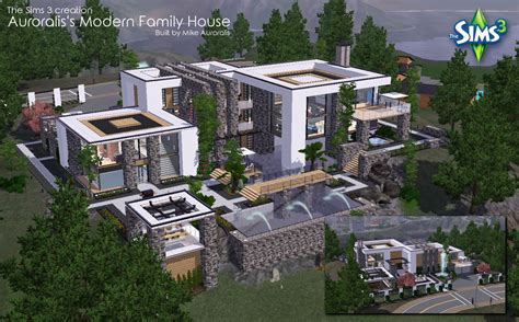 Big Modern Houses Design Home the sims 3 big modern family house by mikeauroralis on