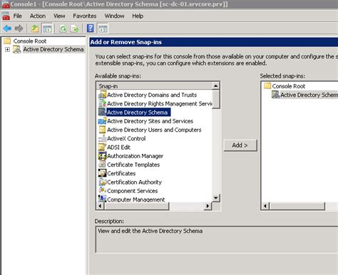 active directory console how to create an active directory schema snap in it