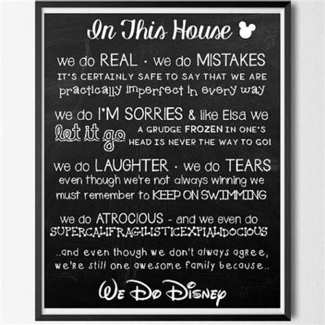 printable house rules poem les 31 meilleures images du tableau disney house rules sur