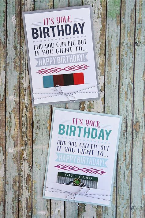 Restaurant Gift Cards Printable