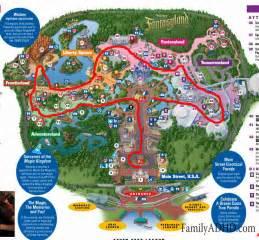 Walt Disney World Magic Kingdom Map by Walt Disney World Orlando Magic Kingdom Family Travel