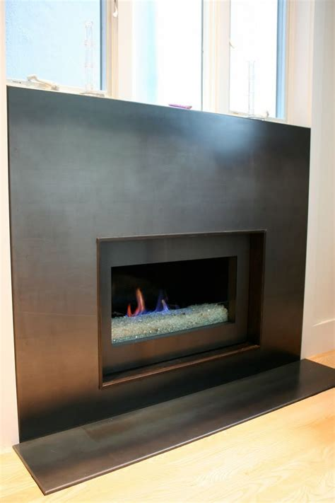 metal fireplace surrounds rolled steel for fireplace granite stainless