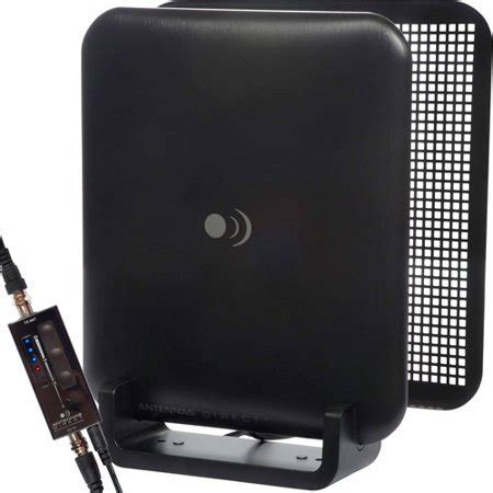 antennas direct clearstream micron xg uhf indoor dtv antenna with lifier and reflector screen