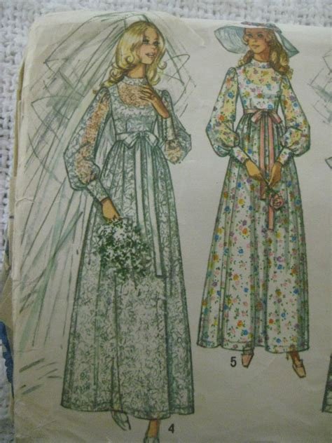 wedding dress pattern making books vintage simplicity 9218 wedding gown dress sewing pattern