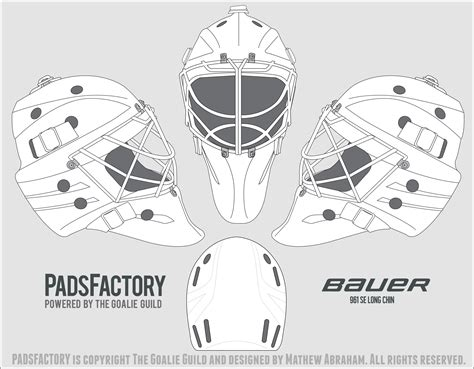 Bauer Goalie Mask Template goalie mask template vector images