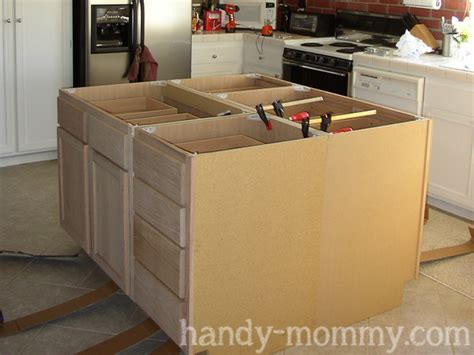 building an island in your kitchen building kitchen island with wall cabinets 187 woodworktips