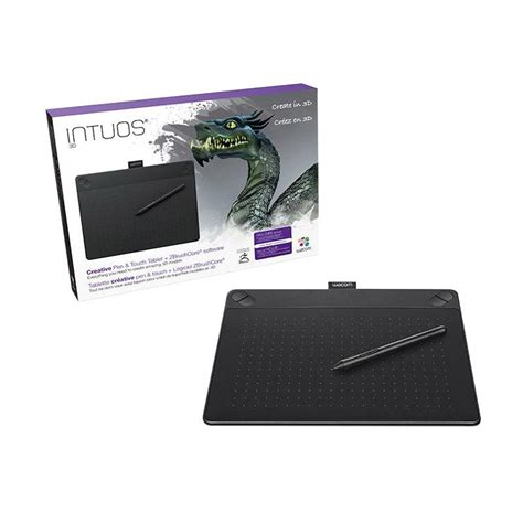 jual wacom intuos 3d pen and touch tablet plus zbrush black cth 690 k3 harga