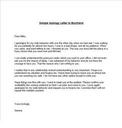 Apology Letter To A Sorry Letter To Your Boyfriend 7 Free Sle Letters Sorry Letters