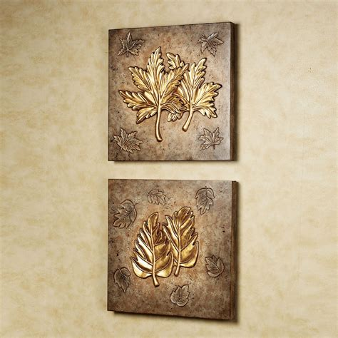 wall decor birch and sweet gum leaf collage wall art set