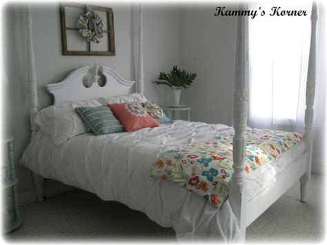 diy chalk paint shabby chic kammy s korner four poster bed cherry finish meets