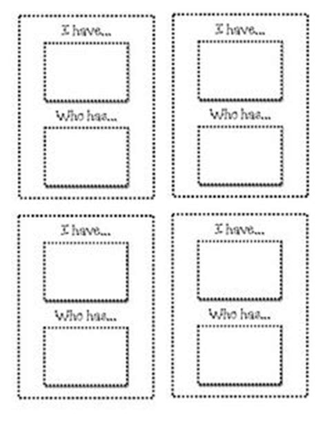 template for i who has cards 1000 images about communication arts ideas on