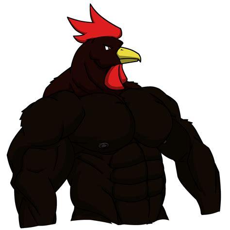Big Black black rooster weasyl