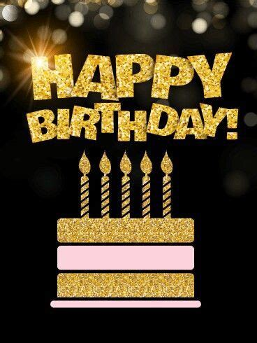 golden glitter happy birthday pictures   images
