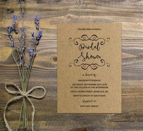 diy bridal shower invitation template mountainmodernlife com