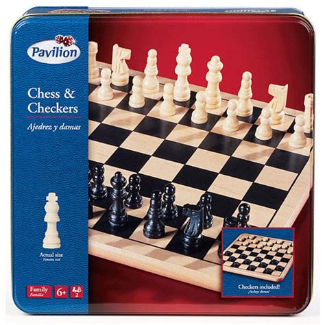 amazon com nautical chess set toys games pavilion wood chess and ckeckers in tin toys r us australia