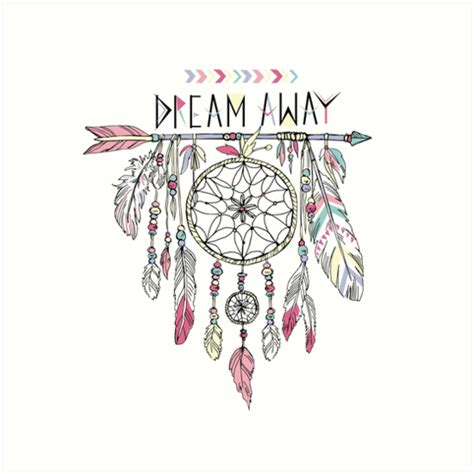 quot dream away dream catcher quot art prints by bananabro redbubble