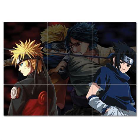 naruto  sasuke block giant wall art poster