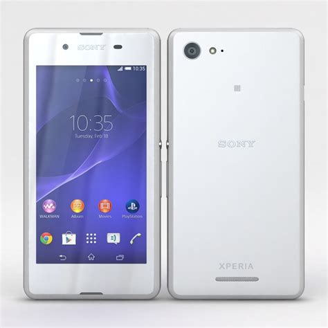 format video xperia e3 3d model sony xperia e3 dual