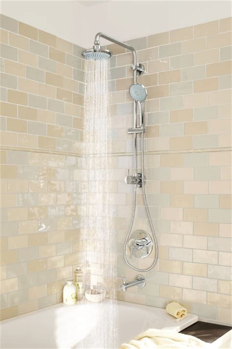 Grohe Faucets Kitchen Grohe Retro Fit Shower System Contemporary Bathroom