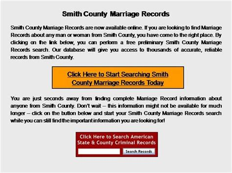 Smith County Records Smith County Marriage Records Authorstream
