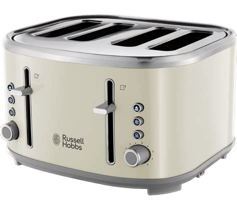 Russell Hobbs Toasters Russell Hobbs Bubble 24411 4 Slice Toaster Cream Box