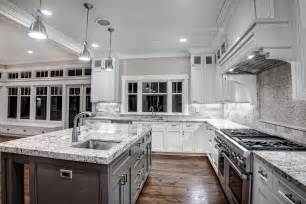 Kitchen Cabinets And Granite Kitchen With Granite Counters And A White Finish Griffin