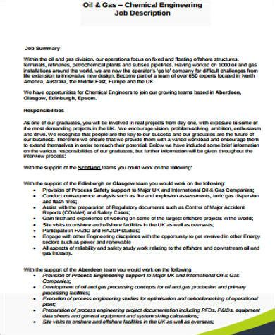 chemical design engineer job description chemical engineer job description sle 9 exles in