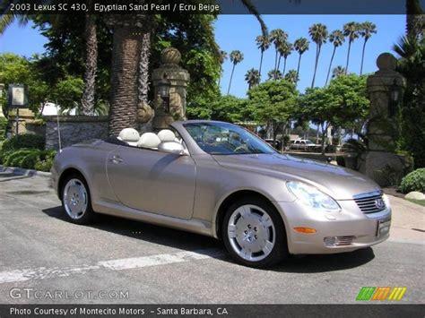 2003 lexus sc sand pearl 2003 lexus sc 430 ecru beige