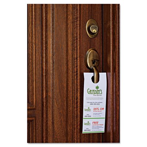 avery free templates door hanger with tear away cards ave16150 avery door hanger w tear away cards zuma
