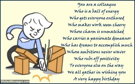 Co Worker Birthday Quotes Birthday Poems For Colleagues Page 2 Wishesmessages Com
