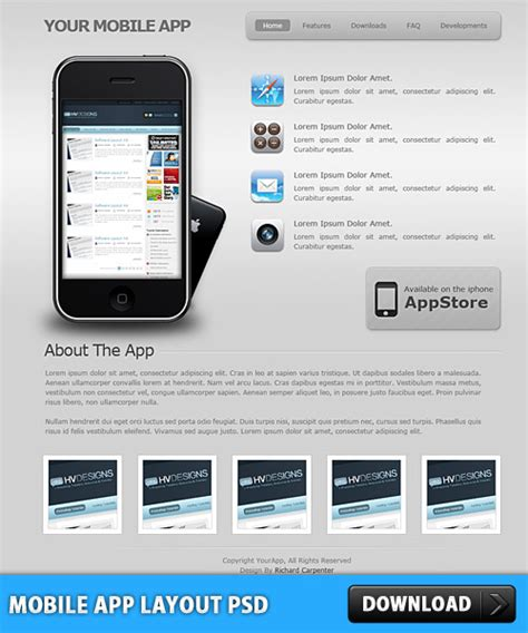 mobile themes psd free download mobile app layout psd download download psd