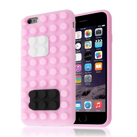 3d building lego brick blocks silicone stand cover for iphone 6 6s plus ebay