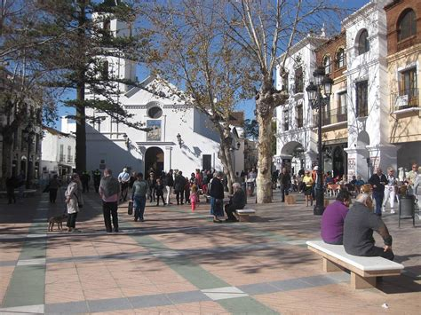 of town busy in town nerja today