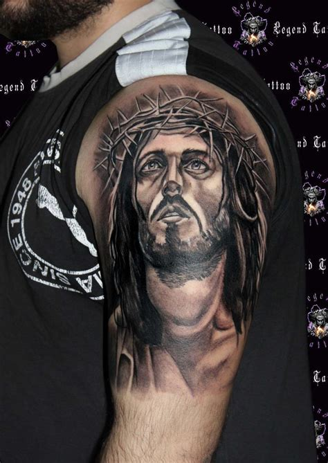 tattooed jesus jesus of nazareth www legendtattoo gr legend