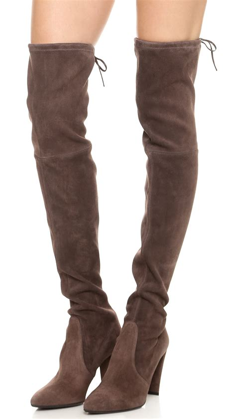 stuart rubber st stuart weitzman high the knee boots funghi