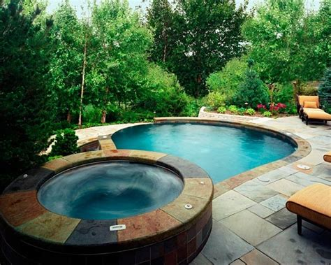 pools with spas 48 awesome garden hot tub designs digsdigs