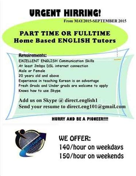 online tutorial jobs in baguio city online english tutor homebased job wanted from benguet