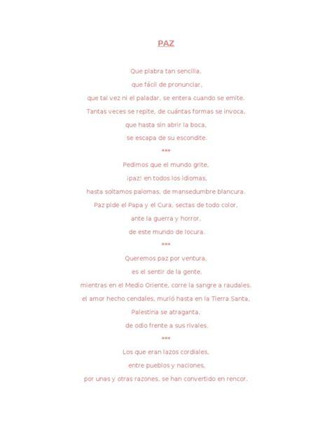 poesias sencillas de 5 estrofas poemas de seis estrofas