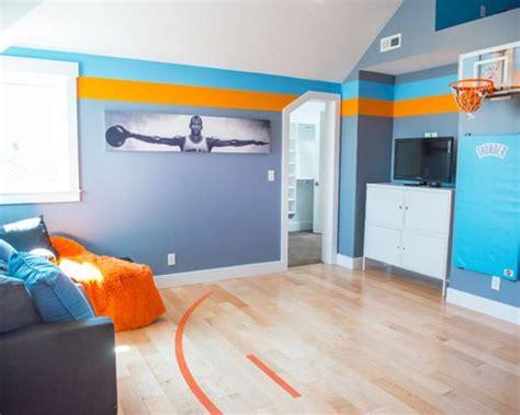 deco basketball chambre chambre d enfant bleue basket theme garage photos